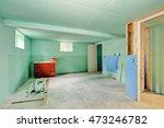 basement renovation. mint green ...   Shutterstock . vector #473246782