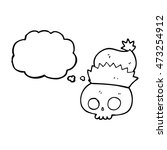 freehand drawn thought bubble... | Shutterstock . vector #473254912