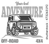 off road suv car poster | Shutterstock .eps vector #473263192