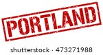 portland stamp. red square... | Shutterstock .eps vector #473271988