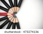 red pencil standing out from... | Shutterstock . vector #473274136