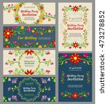 invitation wedding cards vector ... | Shutterstock .eps vector #473278852