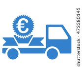 euro gift delivery icon. vector ...   Shutterstock .eps vector #473280145