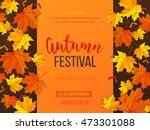 autumn festival background....   Shutterstock .eps vector #473301088