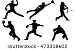 baseball silhouette | Shutterstock .eps vector #473318602