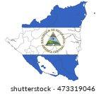 nicaragua country flag on white ... | Shutterstock .eps vector #473319046