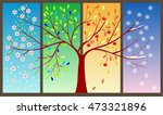 tree during four seasons... | Shutterstock .eps vector #473321896
