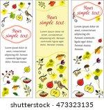 set autumn banners. vertical... | Shutterstock .eps vector #473323135