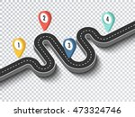 road trip and journey route.... | Shutterstock .eps vector #473324746