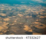 aerial view of farmland... | Shutterstock . vector #47332627