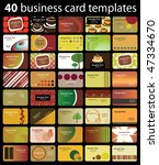 40 colorful business cards | Shutterstock .eps vector #47334670