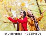 two beautiful young women... | Shutterstock . vector #473354506