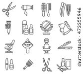 beauty saloon icons set.... | Shutterstock .eps vector #473355946