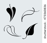 graphic decorative set of leaf... | Shutterstock .eps vector #473360836
