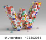 3d rendering of colorful... | Shutterstock . vector #473363056