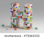 3d rendering of colorful... | Shutterstock . vector #473363152