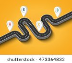 road trip and journey route.... | Shutterstock .eps vector #473364832