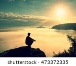 moment of loneliness. man sit... | Shutterstock . vector #473372335