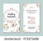 wedding set. romantic vector... | Shutterstock .eps vector #473373688