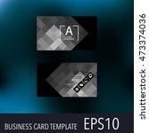 horizontal business card... | Shutterstock .eps vector #473374036