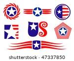 American Patriotic Symbols Set...