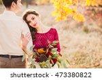 stylish and romantic caucasian... | Shutterstock . vector #473380822