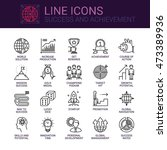 simple icons set of success and ... | Shutterstock .eps vector #473389936