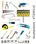 set of detailed tools isolated...   Shutterstock .eps vector #47339113