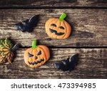 homemade gingerbread cookies in ... | Shutterstock . vector #473394985