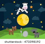 'hey diddle diddle' nursery... | Shutterstock .eps vector #473398192