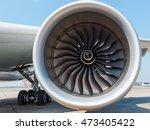 Engine Of Modern Passenger Jet...