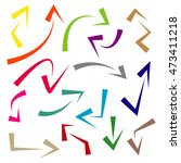 doodle arrows with various... | Shutterstock .eps vector #473411218