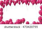 3d render celebration flying... | Shutterstock . vector #473420755