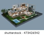 3d illustration of isometric... | Shutterstock . vector #473426542