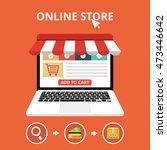 online store concept. set icons.... | Shutterstock .eps vector #473446642