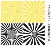 set of abstract radial sunburst ... | Shutterstock .eps vector #473457412