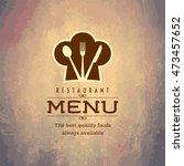 restaurant menu card design... | Shutterstock .eps vector #473457652