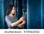 engineer businesswoman in... | Shutterstock . vector #473462032