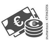euro money icon. vector style...