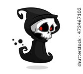 grim reaper cartoon character... | Shutterstock .eps vector #473467102