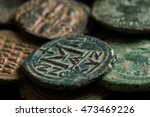 Ancient Copper Coins With...