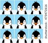 cute penguin cartoon emotion... | Shutterstock . vector #473472616
