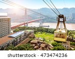 view from cableway over yangtze ... | Shutterstock . vector #473474236