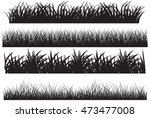 grass vector black set | Shutterstock .eps vector #473477008