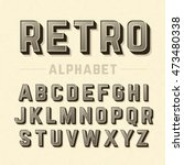 retro style alphabet   Shutterstock .eps vector #473480338