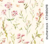watercolor floral pattern ... | Shutterstock . vector #473480698