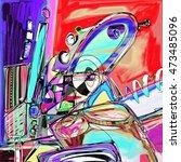 original digital painting of... | Shutterstock .eps vector #473485096