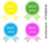 best price button. | Shutterstock . vector #473488318