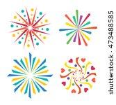 festive firework bursting shape ... | Shutterstock .eps vector #473488585