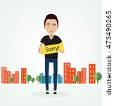 "the guy with tablet ""sorry ""  ... 